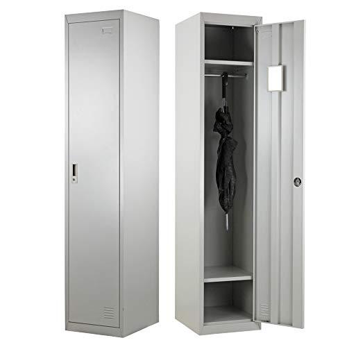 Brigros Armadio spogliatoio 1 anta 180 x 38 x 45 con serratura e specchietto interno (1)