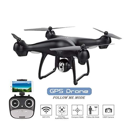 JW Mini Drone RC Quadcopter, 2.4 G Telecomando 2 modalità 6 Axis Gyro Smart UAV, 1080 P videocamera HD Live Video FPV GPS 360 Grado Flip Adatto per Adulti Principianti,Black