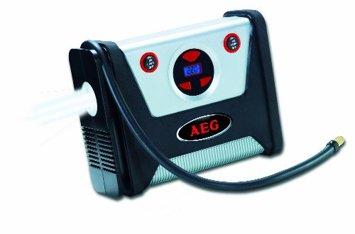 AEG 97136 KD 7.0 - Compresor con preselección digital del nivel de presión (desconexión automática, luces LED, 12 V, máx. 7 bar / 100 psi, con juego de accesorios)