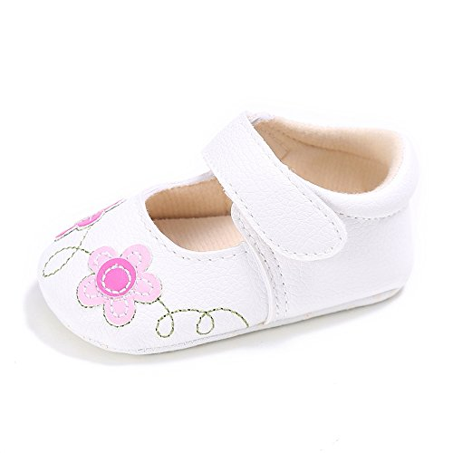 8dd25af0656 Baby Girls Flower Shoes Toddler PU Leather First Walking Shoes ...