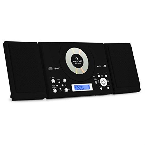 auna MC-120 • impianto stereo multimediale • lettore CD MP3 • radio VHF/FM • 30 stazioni...