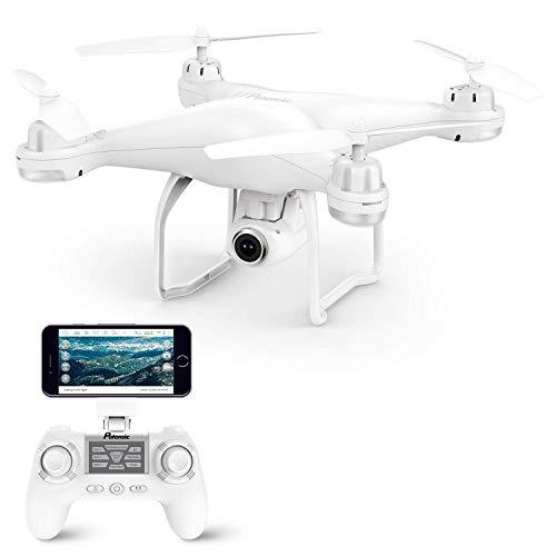 Potensic Drone GPS Telecamera 1080P Drone Professionale T25 Dual GPS con Grandangolare Regolabile Camera HD WiFi FPV Quadricottero Funzione Seguimi modalità Senza Testa