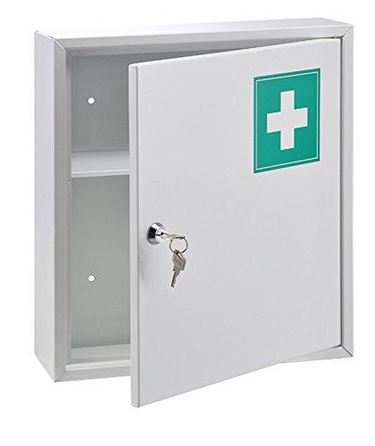 Haushalt , Armadio per medicina internazionale in acciaio inossidabile, Bianco, 31.5 x 10 x 36 cm