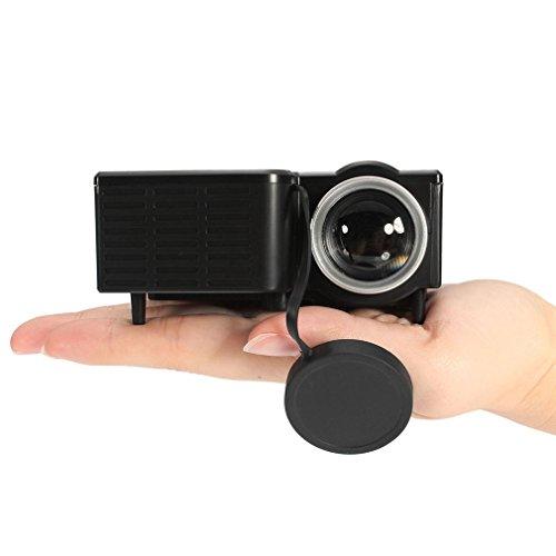 Mini Proiettore LED 1080P Multimedia Famiglia Cinema Home Theater portatile Ingresso scheda USB TF...