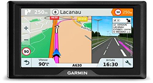 Garmin 010-01679-12 Drive 61 LMT-S EU Navigationsgerät - lebenslang Kartenupdates & Verkehrsinfos, Sicherheitspaket, 6 Zoll (15,2cm), schwarz