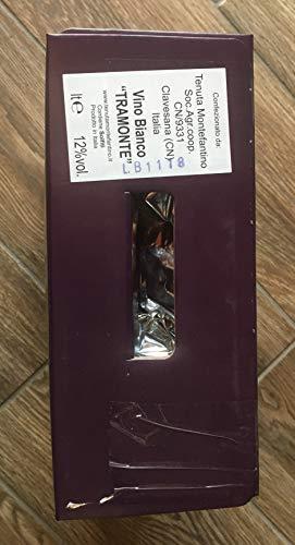 BAG IN BOX 5 LT (2 confezioni da LT 5) vino Bianco TRAMONTE da vitigno Traminer