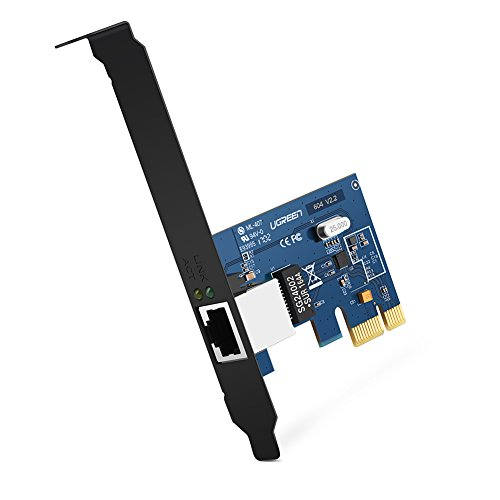 UGREEN Scheda di Rete PCI Express Gigabit Ethernet 1000 Mbps Full Duplex con Porta RJ45 e Doppio...