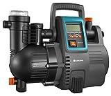 GARDENA Comfort Hauswasserautomat 5000/5E LCD: Hauswasserpumpe mit LC-Display, energiesparend, Fördermenge 5000 l/h, 1300W Motor mit Thermoschutzschalter, Trockenlaufsicherung (1759-20), Grau/schwarz