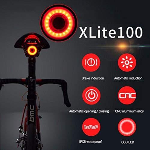 Luce Posteriore per Bici Ricaricabile USB, Accensione / Spegnimento Automatico, Rilevamento dei...