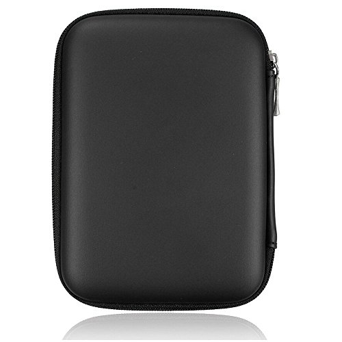 Hard disk portatile antiurto Custodia con zip 2.5 HDD, colore: nero