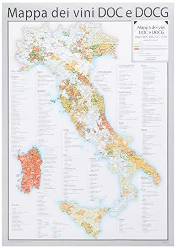 Mappa dei vini DOC e DOCG - Carta Murale