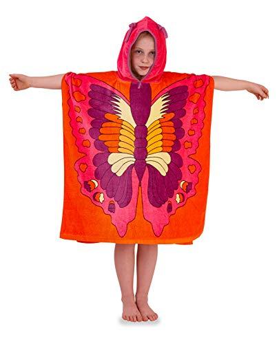 Lora Dora Toalla de baño poncho con capucha verano playa para niños Talla única Mariposa