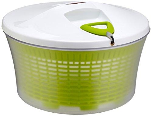 Leifheit Salad Spinner Signature Contenitore a Centrifuga per Insalata, Acciaio Inossidabile, Verde,...