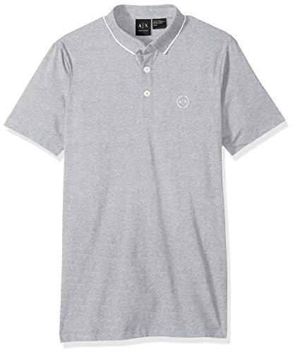 Armani-Exchange-8nzf70-Polo-para-Hombre-Gris-B09B-Heather-Grey-3929-Medium