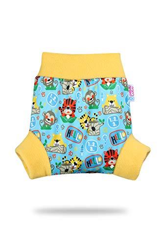 Pull Up Cover Petit Lulu | Taglia L | Con Bordi In Pile | Riutilizzabile e lavabile | Pannolini lavabili | Pannolino di stoffa | Prodotto in Europa (School Jungle)