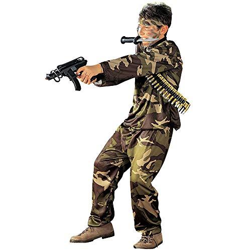 WIDMANN Iden - Disfraz de soldado del ejército militar para niño, talla 8-10 años (S/38407)