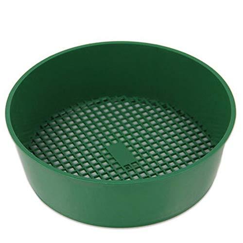 Snner 21 * 5cm de plástico Jardín Tamiz criba Verde para Composy Suelo Herramienta de jardinería de Malla de Piedra
