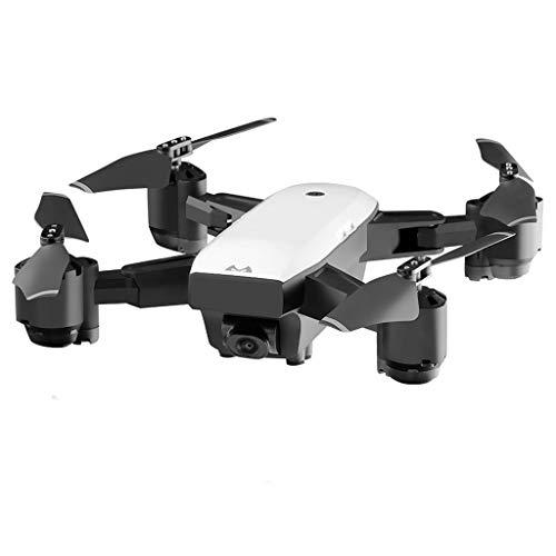 feiXIANG Pieghevole Drone GPS con Telecamera HD 1080P FPV Quadricottero Telecomandato con Funzioni di Sospensione Altitudine Controllo di più Lunga Distanza (Taglia Unica, Bianco)