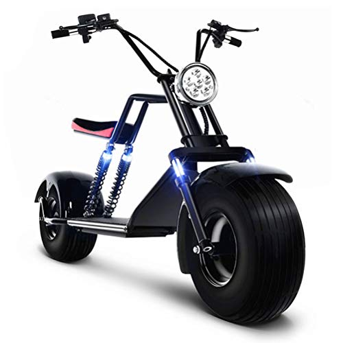 DOS Scooter Elettrico E- Scooter off-Road E-Bike 1500W Batteria agli ioni di Litio 60V 20A,Black