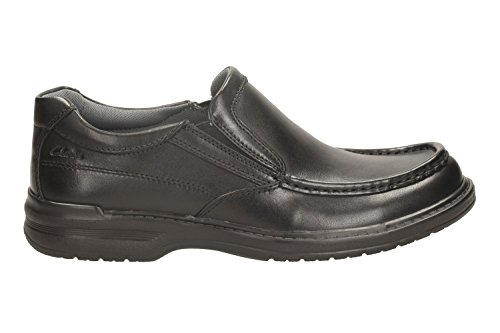 4f65101ba3b08 Clarks Men s Slip-On Loafer Flats Shoes Keeler Step Black Leather ...