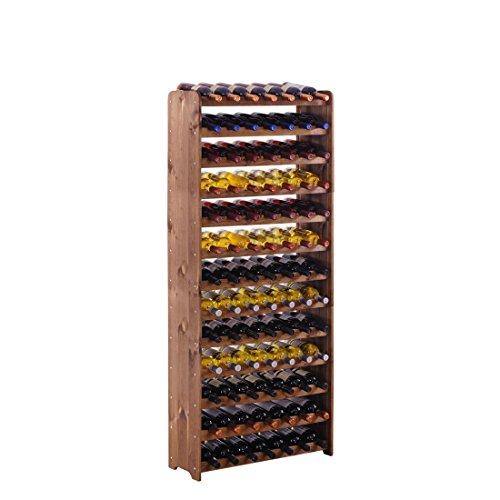 Portabottiglie/bottiglie mountrose sistema 'Opti Plus' in legno, marrone in legno di pino