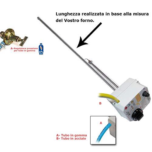 Pieffe bruciatori Bruciatore Professionale a Gas Metano o GPL per Forno a Legna ad accensione...