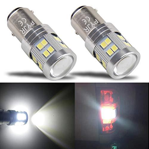 Lampadina led bay15d 1157, PYJR DC10-30V Ampia tensione, luce bianca con Proiettore, per luci di...
