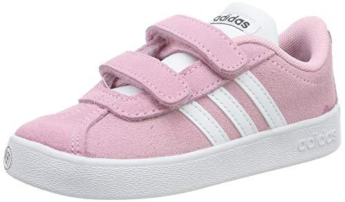 adidas VL Court 2.0 Cmf I, Sneaker Unisex Bimbo, Rosa True Pink/Ftwr White/Grey Six, 23 EU