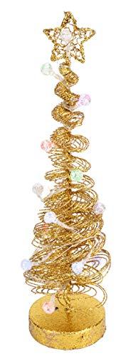 Christmas Concepts 40cm Gold Accendere Albero a spirale con luci a LED nelle bagattelle - Decorazione natalizia