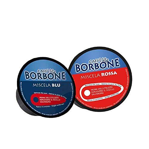 90 Capsule Caffè Borbone Miscela Compatibili Nescafè Dolce Gusto Pacco Mix Miscela Blu e Rossa (45 Blu, 45 Rossa)