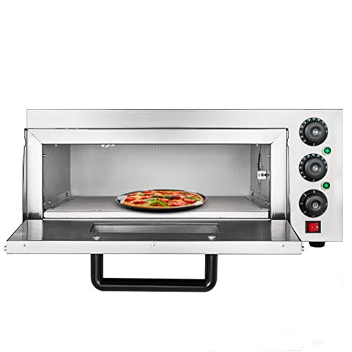 OldFe 2.2KW Forno Pizza Elettrico Professionale 350℃ Forno Per Pizza In Acciaio Inox 56 x 52x 29cm...