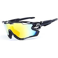 OPEL-R Conducción al aire libre polarizado deporte ocio material playa gafas de sol/gafas de gafas/PC, contiene cinco variedad de lentes de decoración , 1subsection