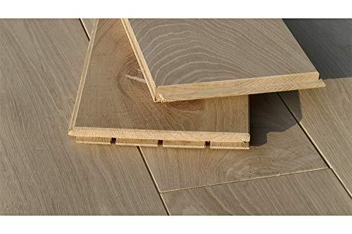 Fatto a mano/modello in legno di quercia massiccio, 20 x 180 x 2000 mm, grezzo, non trattato (38,50...