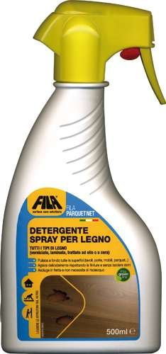 Fila Parquet Net 500 Ml. Detergente Spray Per Legno