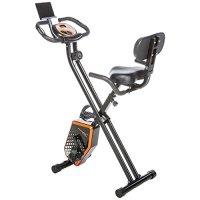 skandika Foldaway X-1000 PLUS - bicicleta estática de fitness - plegable - Bluetooth + soporte de tablet (negro)