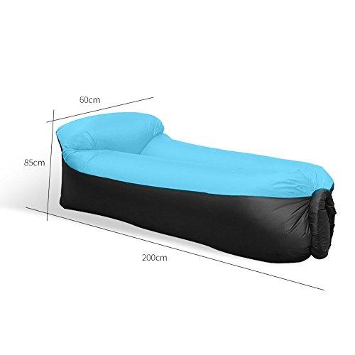 Tongfushop Aufblasbares Sofa Wasserdichtes Aufblasbares Liege Air Sofa, Aufblasbare Couch Tragbar Outdoor Sofa für Drinnen, Freizeit Reisen und Schwimmbad (01) - 6