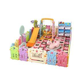LIUFS-Valla Zona De Juegos para Niños Centro De Seguridad Entretenimiento World Toy Venue Enclosure (Tamaño : C)