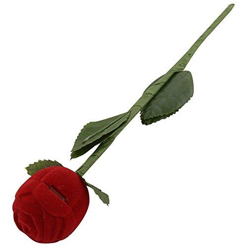 Angel Jewels Velvet Red Rose Ring Jewellery Box For Men And Women