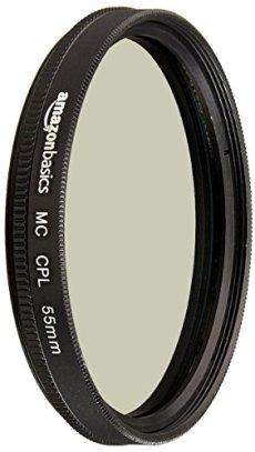 AmazonBasics - Filtro polarizador circular - 55mm