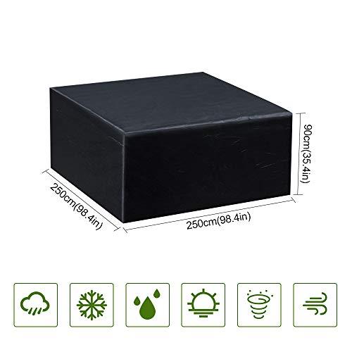 Guansky Copertura Tavolo da Giardino Copertura Mobilia impermeabile Anti-UV 210D Esterno Oxford Per...