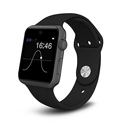 Orologio intelligente, SW25 Stoga Smart Watch con supporto SIM card smartphone, Fitness Tracker, Bluetooth e compatibile con IOS Phone smartphone Android, Samsung, HTC, Sony, Huawei-nero