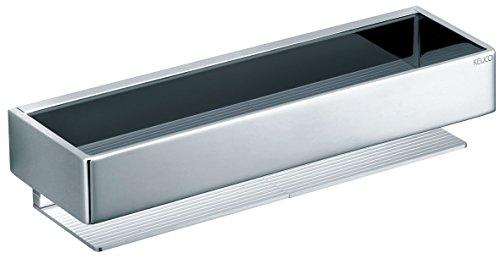 Keuco Duschablage EDITION 11 (Duschkorb 300 x 95 x 67 mm, verchromt Hochglanz; + Befestigungsmaterial korrosionsfrei) 11158010000