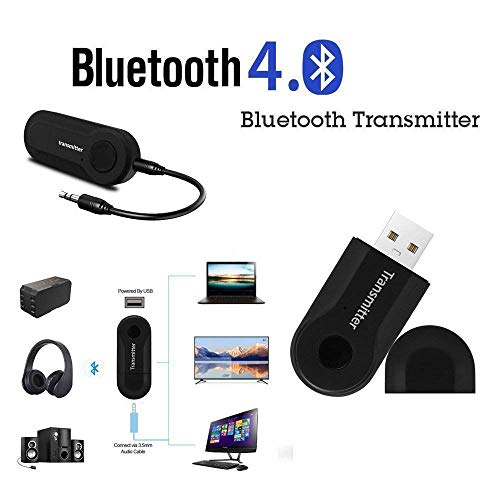 Danu Wireless Bluetooth 4.0 Transmitter with 3.5mm Audio Connector for Mobile Phone, MP3 Player, CD Player, Car Music System, Home Music System, Smart TV, PC, Headphone, Tablet