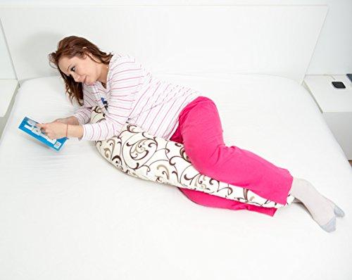Oreiller de maternité / coussin allaitement design 5 en 1 unique support et confort pour dormir pendant et après la grossesse, support pour l'allaitement du bébé et pour soulager la douleur support pour le bébé tandis qu'il est assis ou quand il...