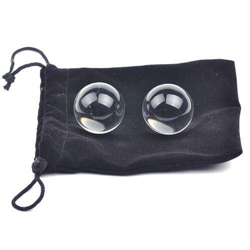eeddoo® Premium Liebeskugeln - Glas - Smart Balls für Sie & Ihn - Analkugeln - Butt Plug Kugeln - Analkette - Love Balls (Anal Beads biegsam weich ohne Rückholschlaufe Sextoy Joy Balls)