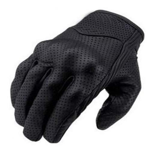 Bikers Gear The Warriors; kurze Leder Motorrad-Handschuhe für den Sommer, schwarz. 1