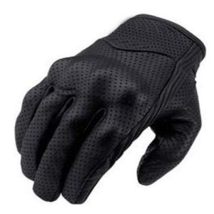 Bikers Gear The Warriors; kurze Leder Motorrad-Handschuhe für den Sommer, schwarz. 13