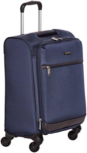 AmazonBasics - Trolley morbido con rotelle girevoli, 54 cm, dimensioni da bagaglio a mano, Blu navy