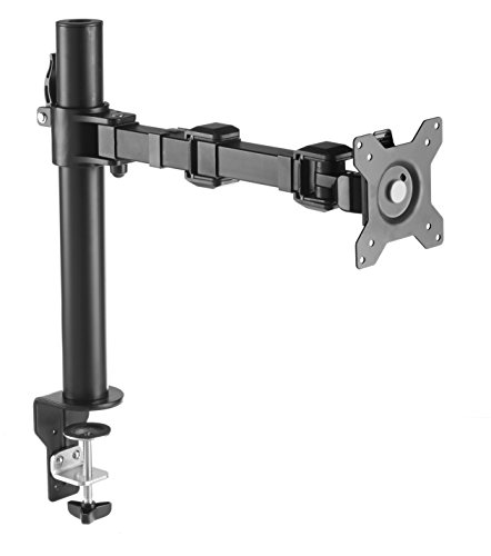 AmazonBasics Monitor Stand, Height Adjustable Arm Mount- Steel