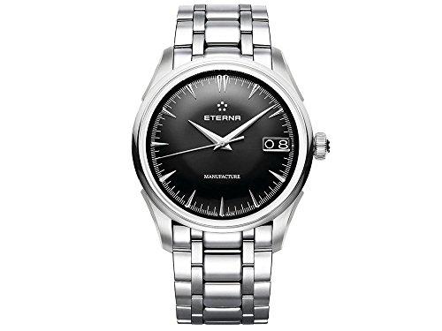 Eterna Heritage 1948 Legacy Big Date Automatik Uhr, Eterna 3030, 41,5mm, Schwarz